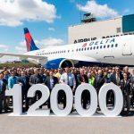 Airbus celebra la entrega de su avión número 12.000