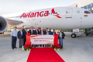 Boeing entrega la unidad número 500 del 787 Dreamliner
