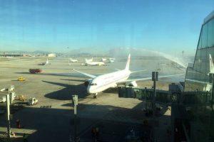 El dreamliner de Royal Air Maroc aterriza por primera vez en España