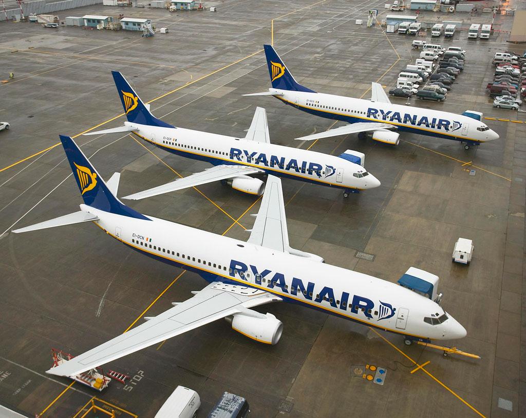 Ryanair, flota, aviones