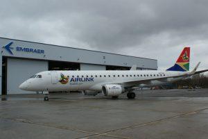 Airlink, primera aerolínea sudafricana en adquirir Embraer E-Jets