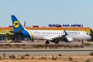 El Aeropuerto de Murcia-San Javier recibe un vuelo directo procedente de Kiev