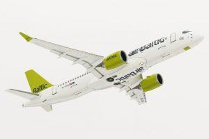 Primeros 100 vuelos del CS300 de airBaltic