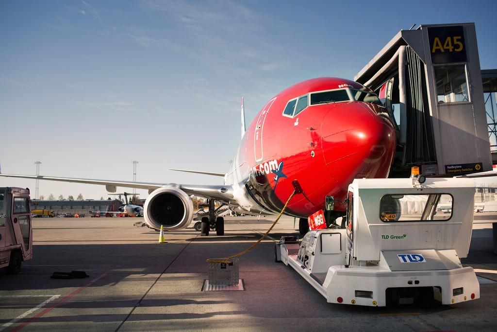 Norwegian, Aeropuerto, Avión