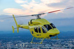 Bell Helicopter y United Rotorcraft entregan helicóptero de servicio médico de emergencia en China