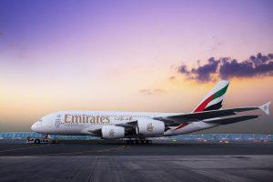 Emirates celebra la llegada de su centésimo A380