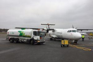 Primer vuelo de un ATR con biocombustible