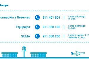 Air Europa suprime los teléfonos de tarificación especial de atención al cliente