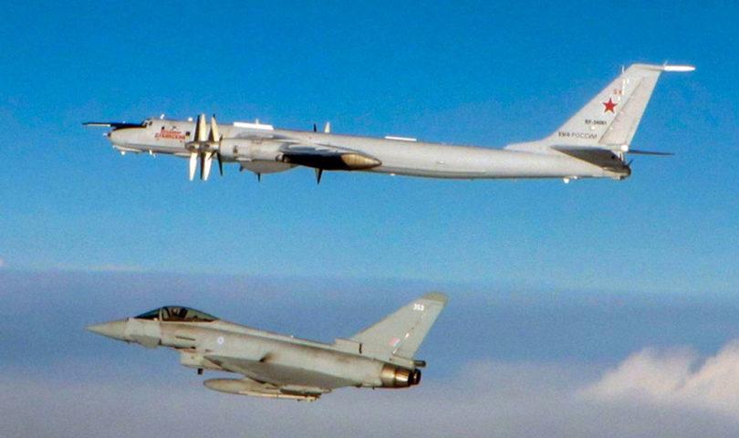 Avión ruso interceptado