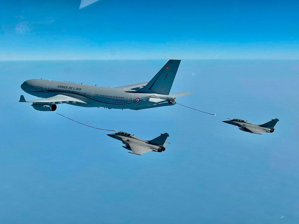Fuerzas Aéreas de Francia e India realizan ejercicio bilateral
