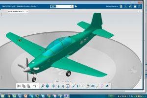 EAU desarrolla el primer avión militar integramente con la plataforma 3DEXPERIENCE