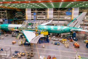 Ensamblaje del primer avión Boeing 777X para vuelos de prueba