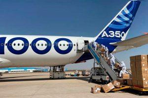 A350-1000, mascarillas, airbus