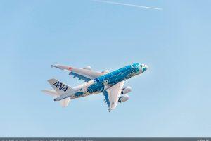 El primer A380 de ANA se prepara para la instalación de sus motores