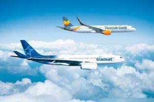 Thomas Cook y Air Transat intercambiarán aeronaves estacionalmente