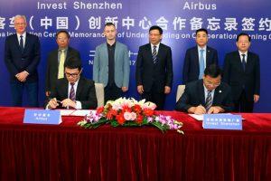 Airbus elige Shenzhen para su Centro de Innovación de China