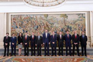 Majestad el Rey Felipe VI ha recibido hoy en audiencia a los presidentes de Iberia e IAG