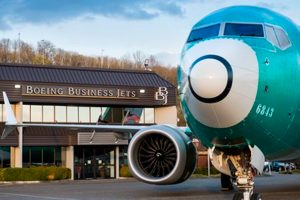 Boeing celebró el vuelo del primer avión BBJ MAX