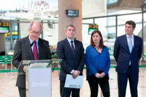 Binter presentó el primer vuelo regular con el que la compañía unirá Canarias y Baleares
