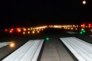 El aeropuerto de Ciudad Real revisa las luces de pista