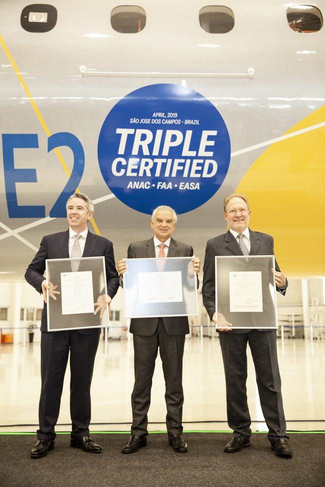 El Embraer E195-E2 certificado por ANAC, FAA y EASA