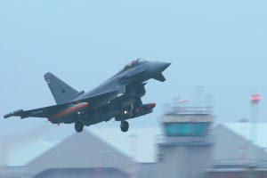 Pruebas de doble disparo de misiles Meteor en un Typhoon