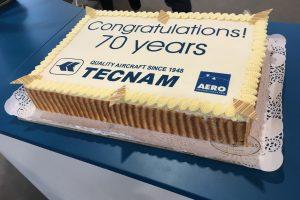Tecnam celebra su 70 aniversario con récord de ventas en AERO