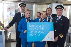 Aterriza en Málaga el primer vuelo de la nueva ruta de KLM hacia Ámsterdam