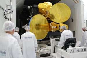 Europasatya se encuentra en la base de Kourou para su lanzamiento