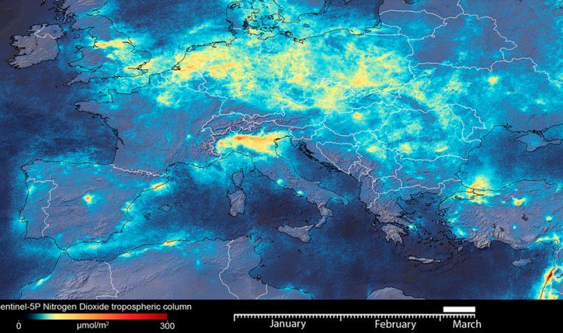 Dióxido de Nitrógeno, Italia, Copernicus, Sentinel