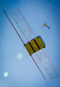la antena radar de la misi n juice se prueba con un helic ptero avion revue internacional. Black Bedroom Furniture Sets. Home Design Ideas