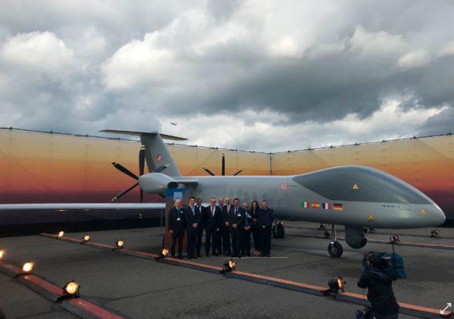 Airbus, Dassault Aviation y Leonardo presentan un modelo a escala real del MALE RPAS europeo