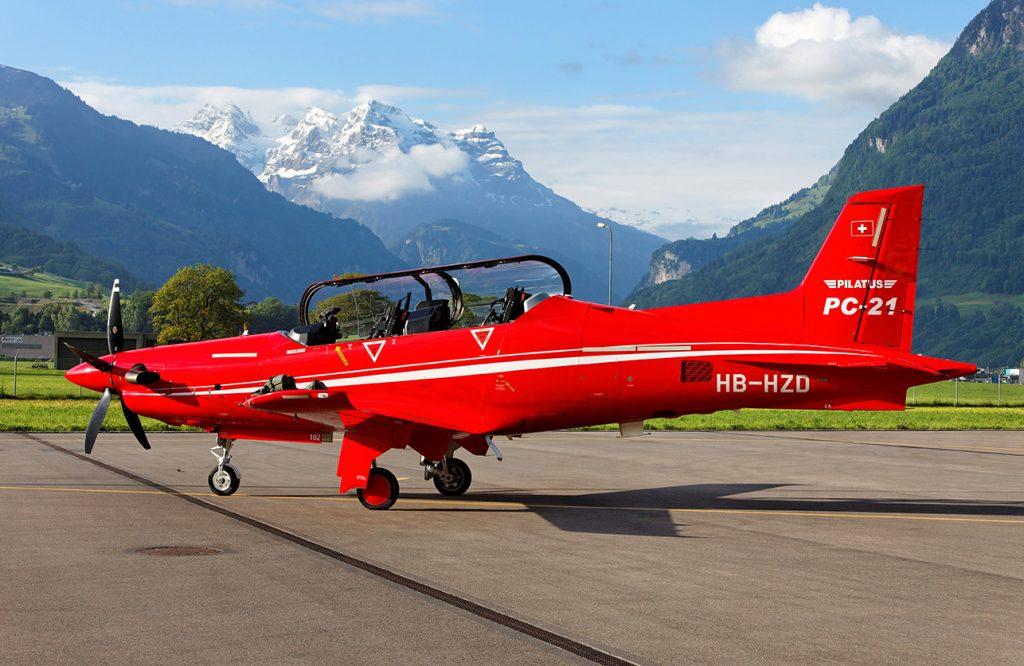 PC-12 en Stans, Suiza