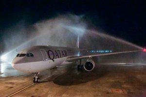 Qatar Airways aterriza por primera vez en el Aeropuerto de Chiang Mai
