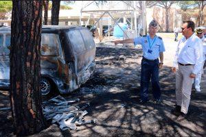 El SEDEF visita las instalaciones del INTA afectadas por el incendio de Doñana