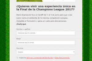 Iberia Express sortea dos vuelos a la final de la Champions