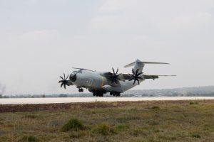 Arriba el A400 del Ejército del Aire a Colombia para Exhibición