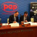 Thales Alenia Space firma un acuerdo de asociación con el centro de tecnología polaco SCNTPL