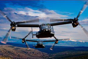 El V-22 Osprey alcanza las 400.000 horas de vuelo