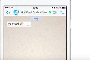 KLM es la primera aerolínea con una cuenta verificada de WhatsApp Business