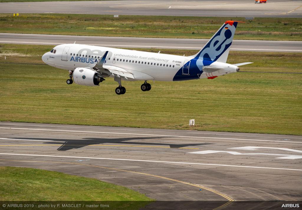 A319neo con motores PW1100G