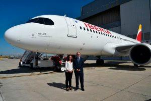 Getafe, cuna de la aviación española, el nombre del nuevo A320neo de Iberia