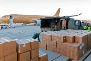 A330MRTT, Airbus, getafe, carga,mascarillas