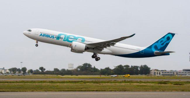 El primer A330neo completa con éxito su vuelo inaugural