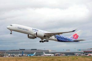 China Airlines recibe un nuevo A350-900 con un diseño especial