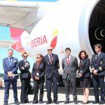 El A350-900 de Iberia llega a Argentina