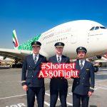 Emirates lanza el vuelo más corto operado con A380