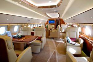 Airbus Corporate Jets (ACJ) exhibe un ACJ319 en la feria de Dubai