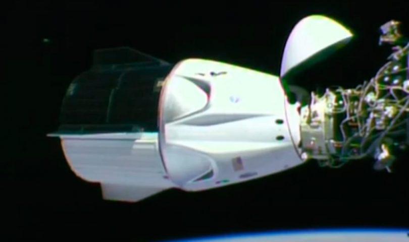 acoplamiento, crew dragon, spacex, iss