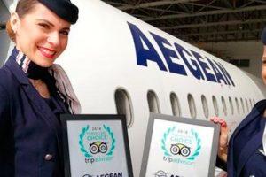 Aegean recibe premio Tripadvisor